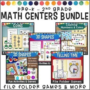 Math File Folder Games Bundle