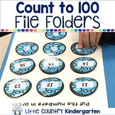 Math File Folder Games K.CC.A.1: Count to 100 with Dinosaurs