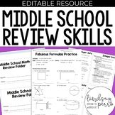 Middle School Math Review Skills