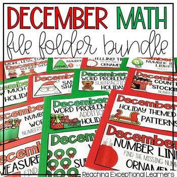 Math File Folders December