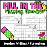 Math- Fill in the Missing Numbers Kindergarten or First Grade 87 pages