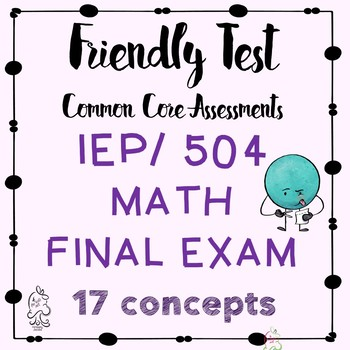 Math Final Exam Semester One Basic Math for RSP, IEP, 504, SDC students