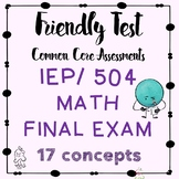 Math Final Exam Semester One Basic Math for RSP, IEP, 504,