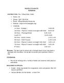 Math Finance Syllabus