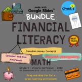 Math - Financial Literacy - Canadian Money - Grade 4 Bundl