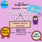 Math - Financial Literacy - Consumer and Civic Awareness o