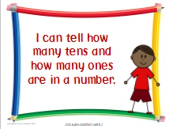 Math First Grade Common Core Standards Posters in Kid-Friendly Language
