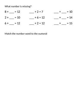 Math First Grade Review