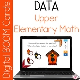Math First Hand and Second Hand Data BOOM Cards for Distan