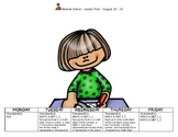 Math First Week of School Lesson Plan:  4th Grade Go Math; MAFS and Common Core