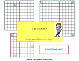 Math Five Squares Game - Multiplication and Division - Up to 4 Digits