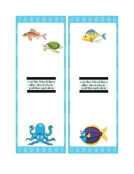 Math Five's Six's Smart Chute Addition Slide Printable Fish Turtle Octopus