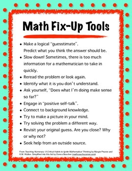 Math Fix Up Tools- Educator's Book Club Summer Discussion