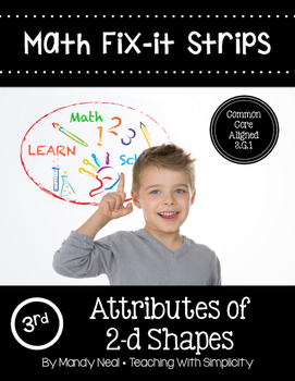 Math Fix-it Strips for 2-d Shapes