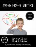 Math Fix-it Strips for 3rd Grade Math Bundle