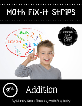 Math Fix-it Strips for Addition