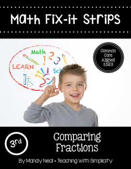 Math Fix-it Strips for Comparing Fractions
