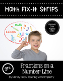 Math Fix-it Strips for Fractions on a Number Line