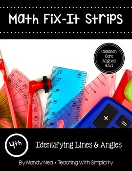 Math Fix-it Strips for Identifying Lines and Angles (4th)