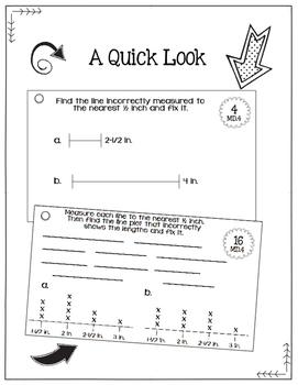 Math Fix-it Strips for Measurement & Line Plots