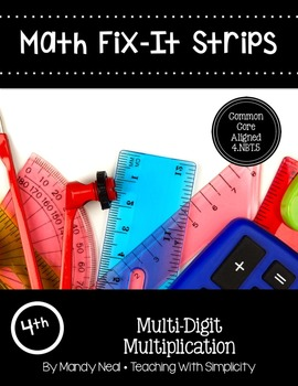Math Fix-it Strips for Multi-Digit Multiplication (4th)