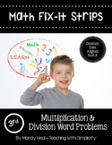 Math Fix-it Strips for Multiplication & Division Word Problems