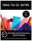 Math Fix-it Strips for Multiplicative Comparison Word Problems (4th)