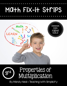 Math Fix-it Strips for Properties of Multiplication