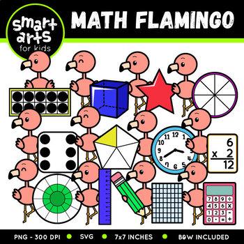 Math Flamingo Clip Art