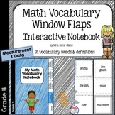 Math Vocabulary Flaps Interactive Notebook Foldable Measurement & Data (Grade 4)
