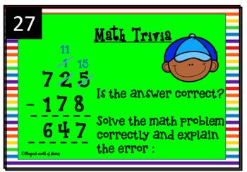 Math Flash Card - Math Talk