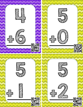 Math Flash Cards! 0-10 addition facts!