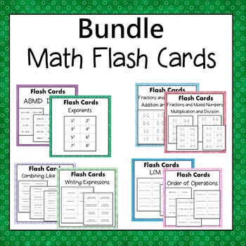 Math Flash Cards Bundle