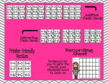 Math Flash Cards (Task Card Set)