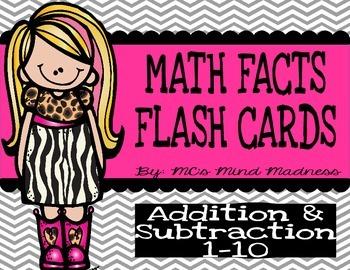 Math Flash Cards (Task Card Set)