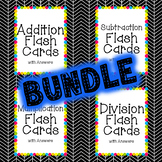 Math Flash Cards with Answers BUNDLE