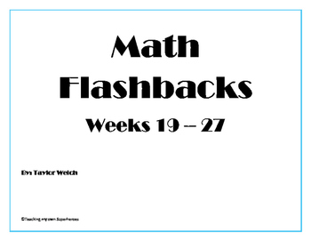 Math Flashback Bundle Weeks 19 - 27