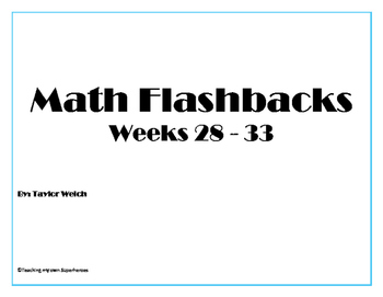 Math Flashback Bundle Weeks 28 - 33