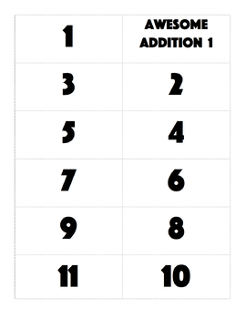 Math Flashcards Addition and Subtraction (0-10)