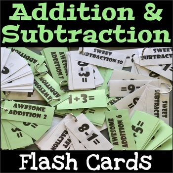 Math Flashcards Addition and Subtraction 0-10