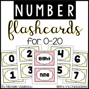 Math Flashcards: Numbers 0-20 & Number Words