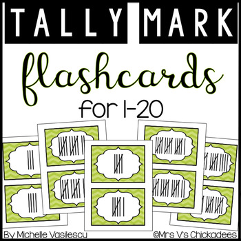 Math Flashcards: Tally Marks 1-20