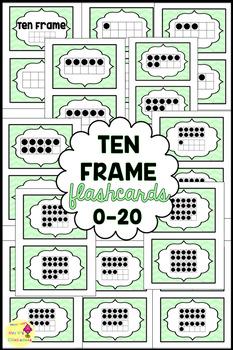 Math Flashcards: Ten Frames 1-20