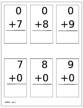 Math Flashcards addition 0-12
