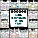 Math Flashcards for the Year: BUNDLE