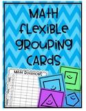 Math Flexible Grouping Cards