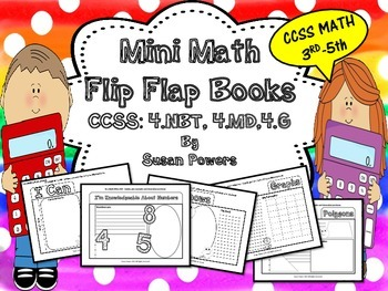 Math Flip Flap Books for End of Year Activities