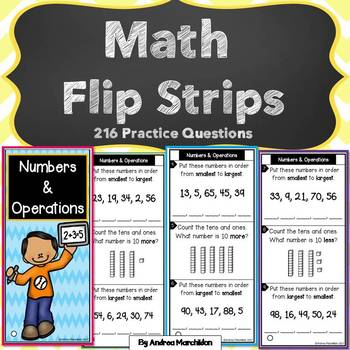 Math Flip Strips for 1st Grade