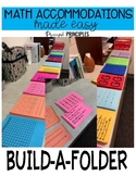 Math Accommodations Made Easy- Build a Folder