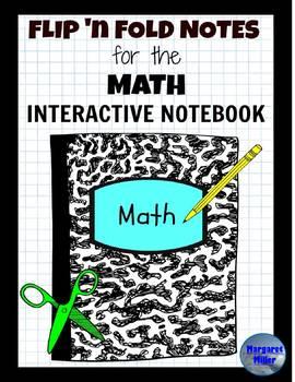 Math Flip 'n Fold Notes Growing Bundle